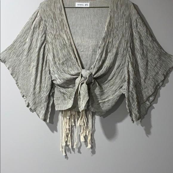 Faithfull the Brand Olsen tie-up blouse